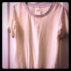 Club Monaco Silk Short Sleeve Blouse